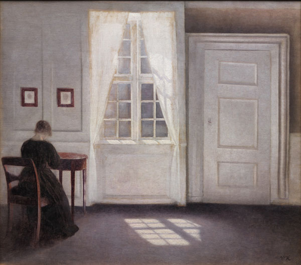 Vilhelm Hammershøi: Stue i Strandgade med solskin på gulvet, 1901. www.smk.dk